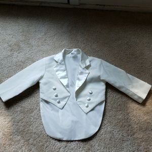 Other - Little baby boy suit jacket in cream color
